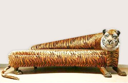 sofá tigre